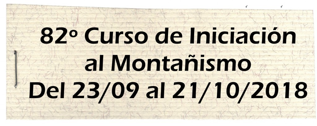 82º Curso Montañismo