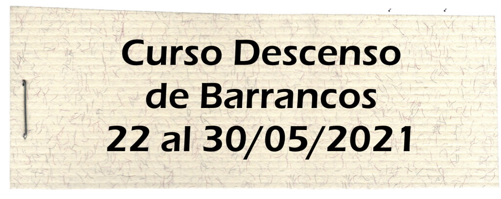 Curso Barrancos