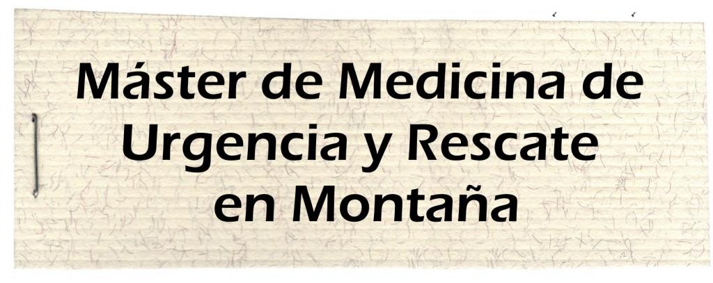 Master Medicina Urgencia Montaña