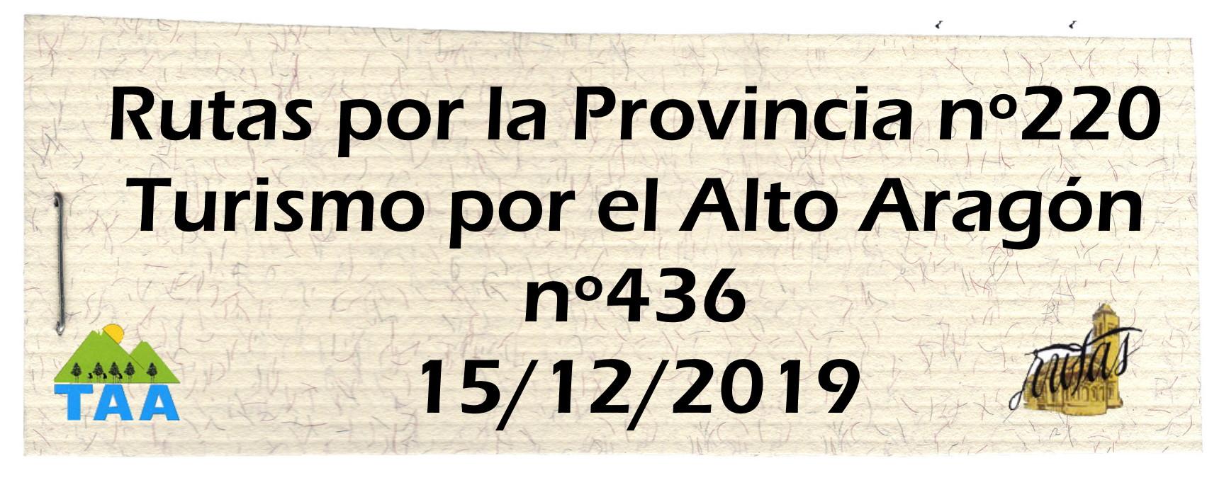 Rutas y TAA Diciembre 2019
