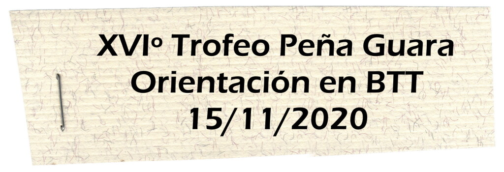 Trofeo Peña Guara MTBO