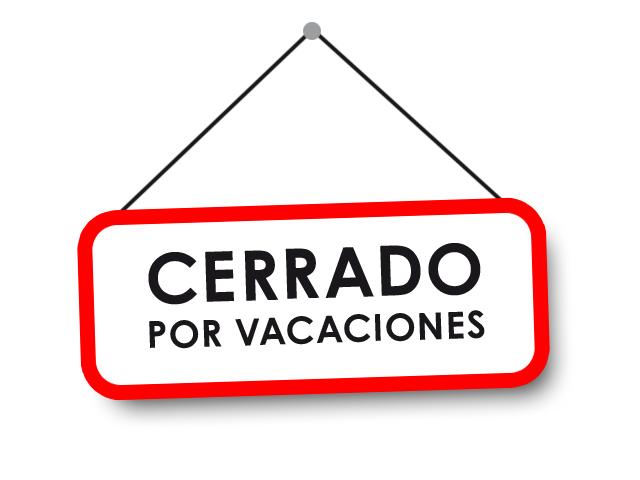 cerrado por vacaciones 2