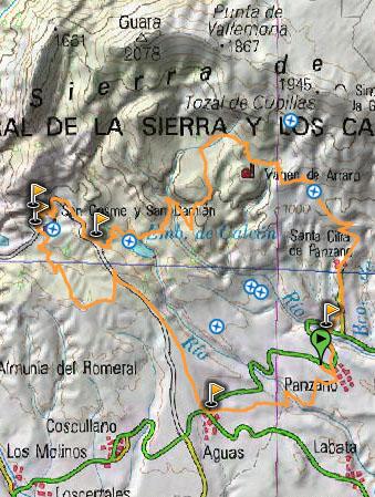 mapa sierra de guara btt