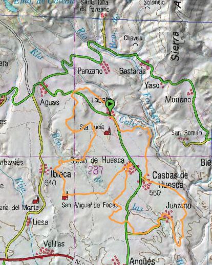 mapa valle de la gloria