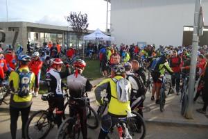 Momentos antes de la salida en Tierz