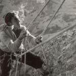 César Callau escalando el Puro de Vadiello - Año 1956 - Foto Manuel Estaún [1600x1200]