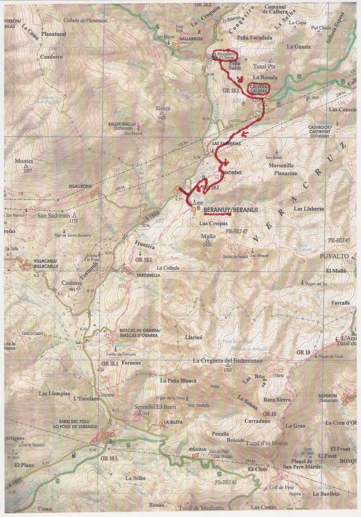 Mapa Obarra