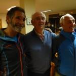 Tres generacionesa de escaladores, Novato, Anglada y Ursi