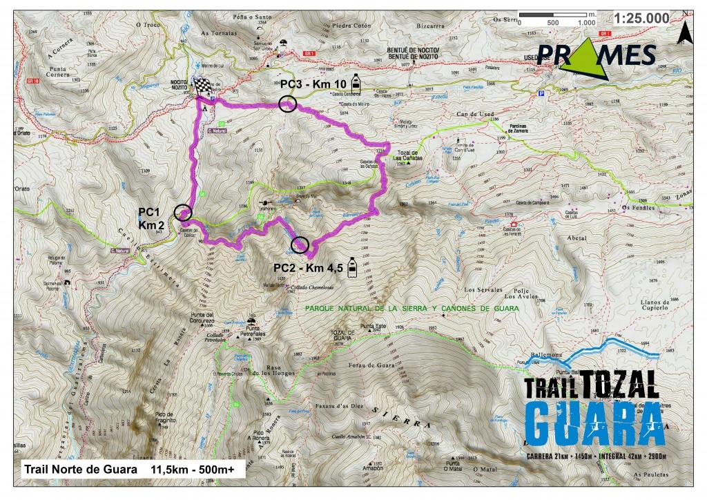 TrailNorteGuara_mapa con logos