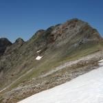 La cresta recorrida, desde el Petit a la izquierda, al Gran Gabizós