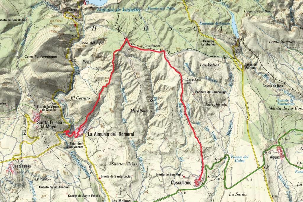 Mapa Excursión 17 Diciembre Rutas-TAA