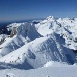 3 Desde la cima del Aspe, vista hacia el Oeste, Llena de la Garganta, Llena del Bozo y Bisaurín, objetivos de la próxima Alta Ruta.