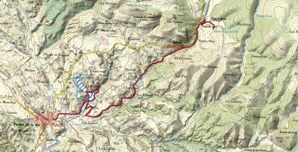 mapa Gabasa