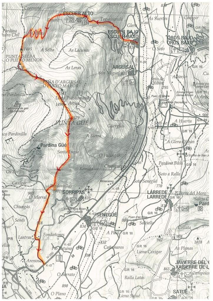 Mapa Punta Gue