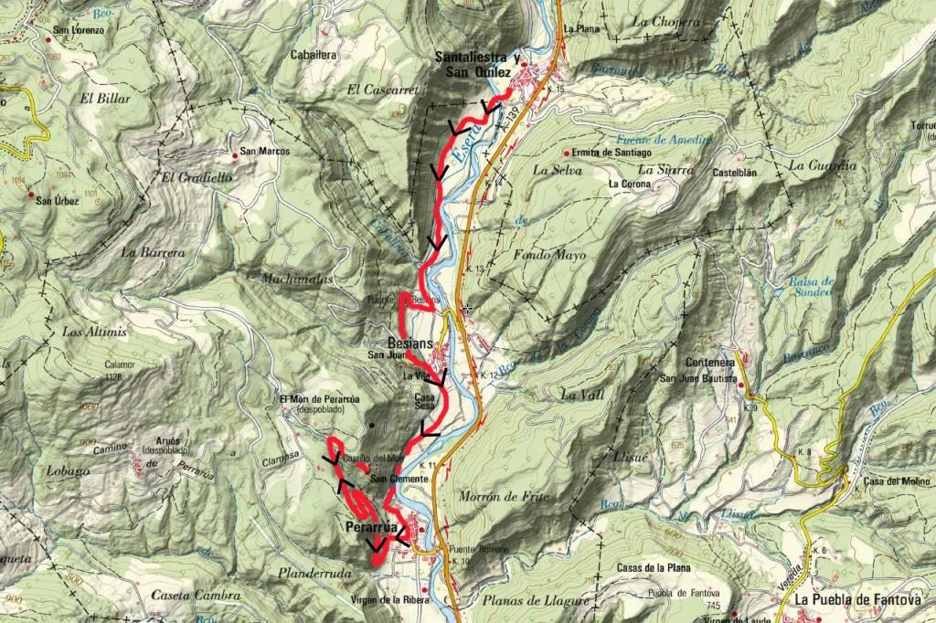 Mapa Rutas nº204