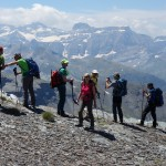 Vista del Macizo de Monte Perdido desde el collado