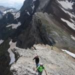 cresta hacia el pico Estaragne