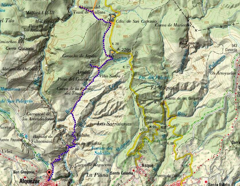Mapa Peque Guara
