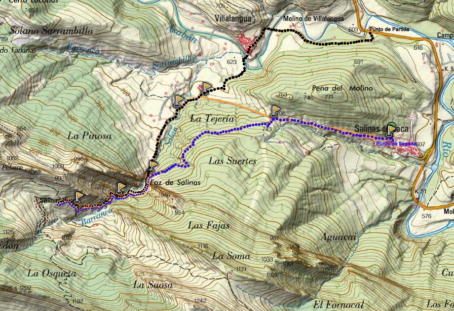 mapa villangua salinas