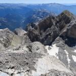 006 Llegando a la cima de Monte Perdido con el cuellos del Perdido, el pico Ramond y la canal de subida al mismo MarcosBielsa