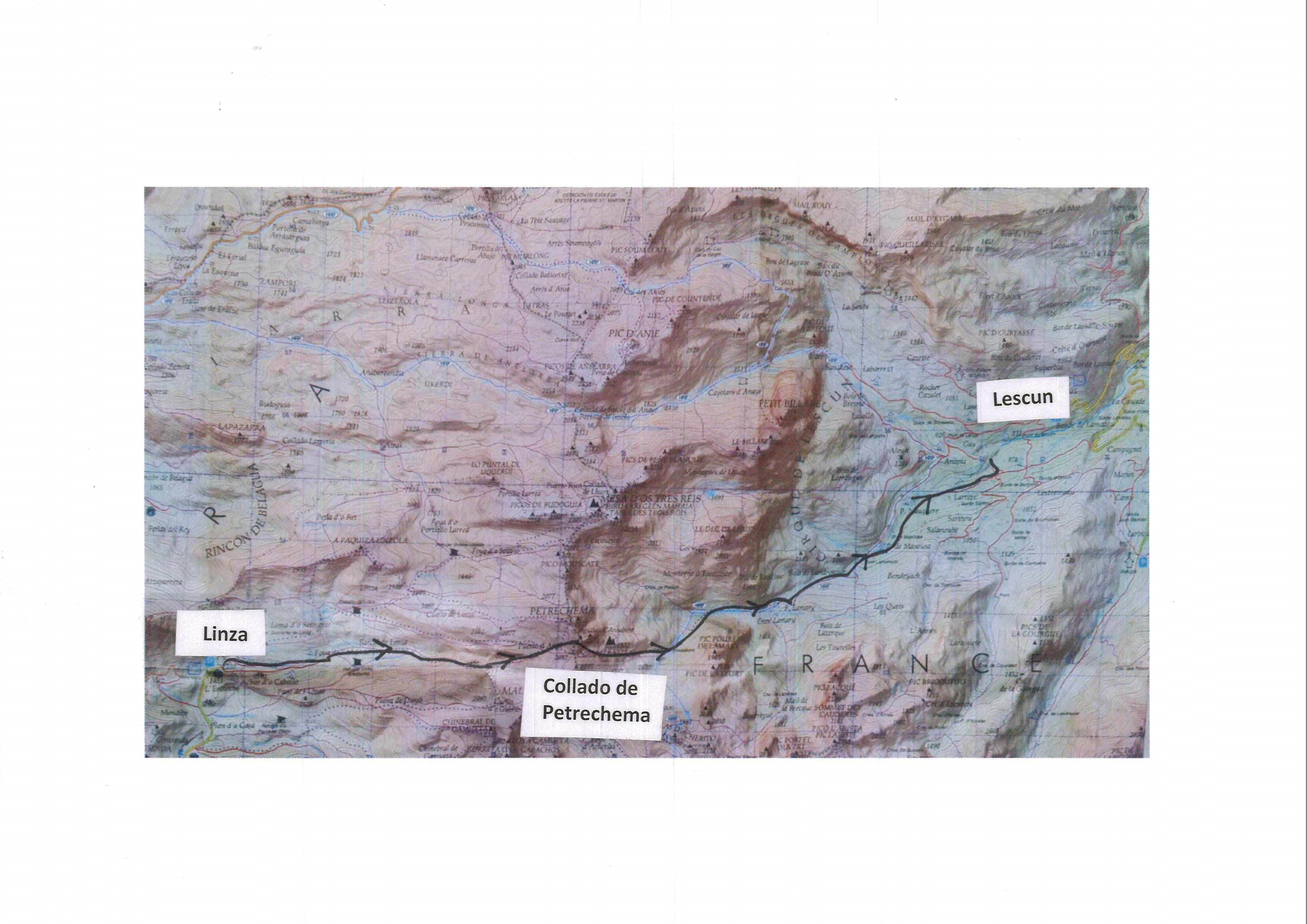 mapa TAA 433-Linza-Lescun