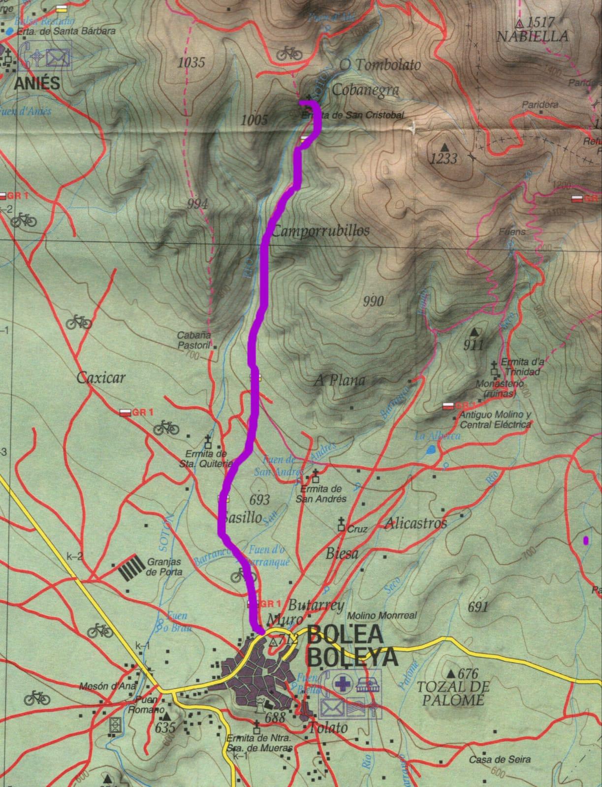 Mapa Peque Guara Enero