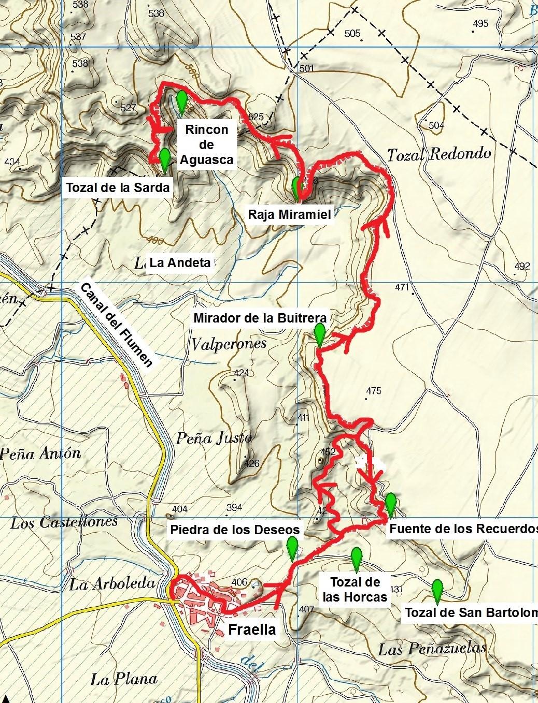 Mapa Rutas Febrero