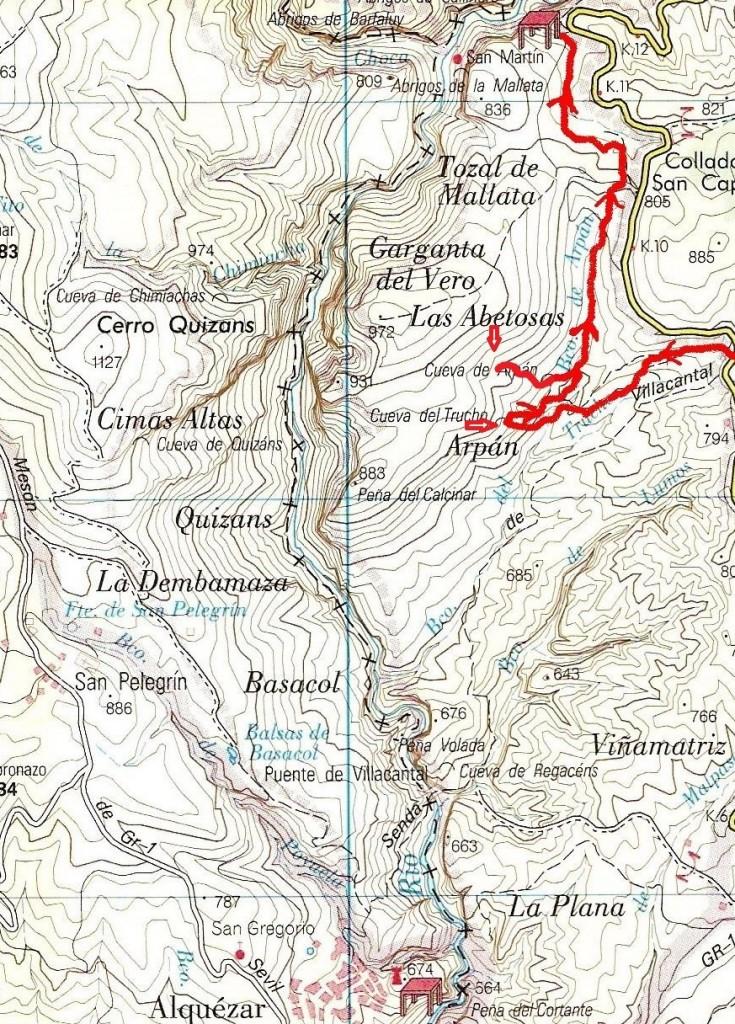 Mapa Rutas Marzo